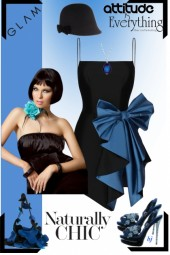 Glam in Black and Blue