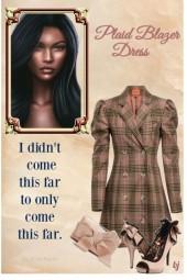 Plaid Blazer Dress