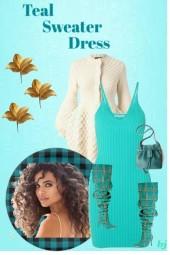 Teal Sweater Dress