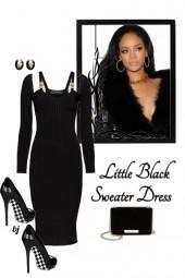 Little Black Sweater Dress