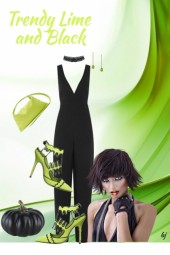 Trendy Lime and Black