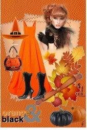 Orange and Black......