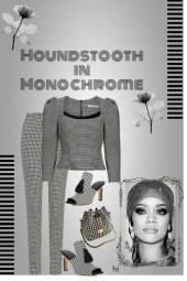 Houndstooth in Monochrome