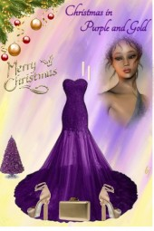 Christmas in Purple and Gold