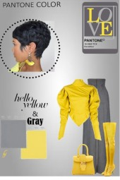 Pantone Color--Yellow and Gray