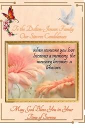 To The Dalton-Jensen Family