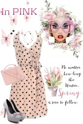 Pink Spring in Dots
