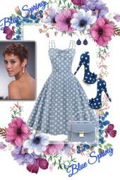 Blue Dots for Spring