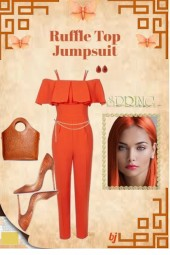 Ruffle Top Jumpsuit