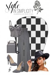 Style in Checkered Simplicity