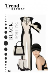 The Trend Report--Black and White Jumpsuit