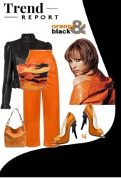 Trend Report--Orange and Black
