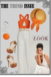 Get the Look--White Denim Jeans