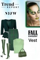 NYFW Fall Sweater Vest