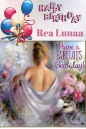 Happy Birthday Rea Lunaa!