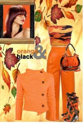 Orange and Black Camouflage