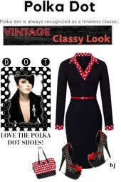 Polka Dot--Vintage Classy Look