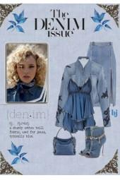 The Denim Issue--Split Denim Skirt