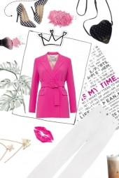 Pink office girl