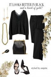 Pearls, Black and Gold