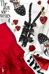 HOLA, MARQUES' ALMEIDA, asymmetrical ruffle skirt