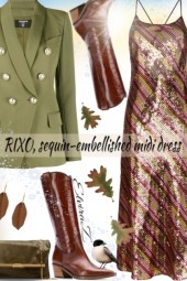 RIXO, sequin-embellished midi dress