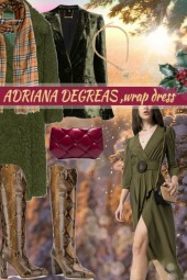 ADRIANA DEGREAS ,wrap dress