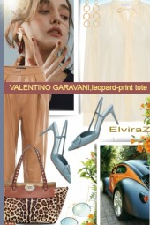 VALENTINO GARAVANI,leopard-print tote