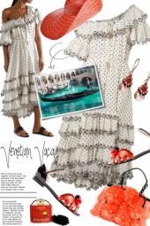 Venetian Vacay ~ Zimmermann Tiered Dress