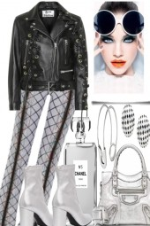 BLACK LEATHER AND SILVER