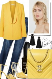 jeans love yellow