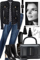 BE LOVELY, JEANS AND BLACK