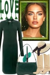 JUST A GREEN DRESS