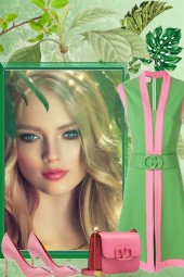 IN SPRING SO GREEN WITH PINK