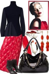 ELEGANT . BLACK AND RED