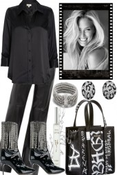 BLACK AND BIT SILVER-