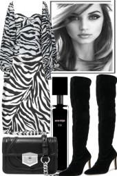 -zebra and black