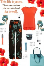How to wear Floral Trousers!