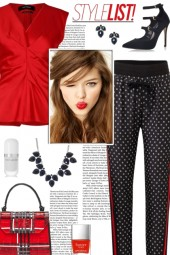How to wear Floral Printed Striped Trousers!