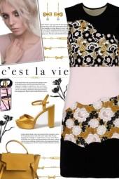 How to wear a Crew Neckline Floral Sheath Dress!
