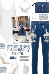 How to wear Floral Embroidered Skinny Jeans!