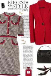 How to wear a Tweed Mini Short Sleeve Dress !