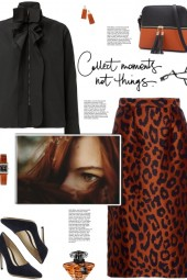 How to wear a High Rise Animal Print Pencil Skirt!