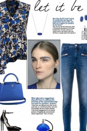How to wear an Asymmetrical Floral Print Blouse!