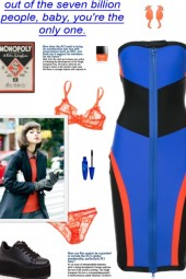 How to wear a Strapless Color-Block Zipped Dress!