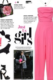 How to wear a Strapless Wide Leg Cropped Jumpsuit!