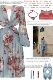 How to wear Cut-Out Floral Plunge Neckline Dress!