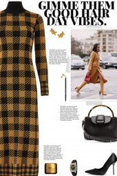 How to wear a Turtleneck Checked Knit Dress!