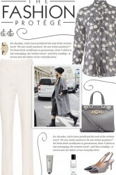 How to wear a Front Tie Floral Print Blouse!