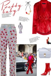 How to wear a Floral Embellished Tapered Jeans!